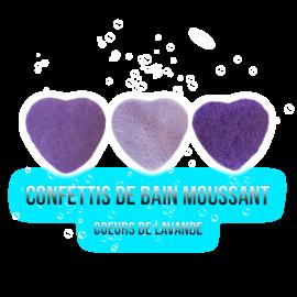 Confettis de bain moussant - Cœur Lavande