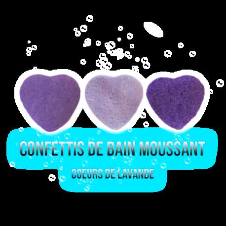 ✭ Confettis de bain moussant - Cœur Lavande ✭