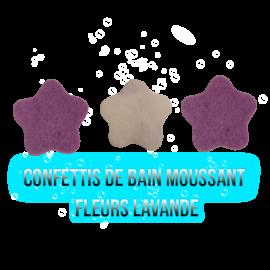 Confettis de bain moussant - Fleur Lavande