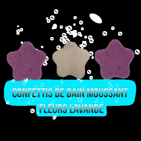Confettis de bain moussant - Fleur Lavande 12g