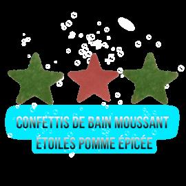 Confettis de bain moussant - Étoiles pomme épicée