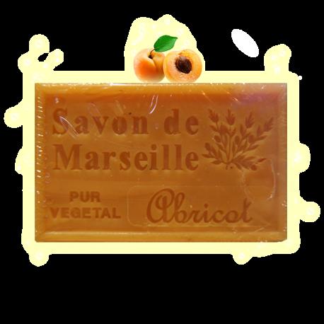 ✭ Savon de Marseille abricot 125g - Exfoliant peaux grasses et normales ✭