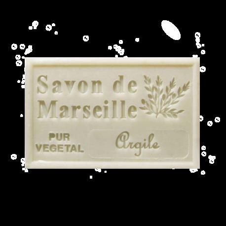 ✭ Savon de Marseille argile blanche 125g - Exfoliant doux gommage de la peau ✭