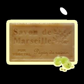 ✭ Savon de Marseille pépins de raisin 125g - Exfoliant doux gommage de la peau ✭