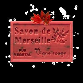 ✭ Savon de Marseille vigne rouge 125g - Exfoliant doux gommage de la peau ✭