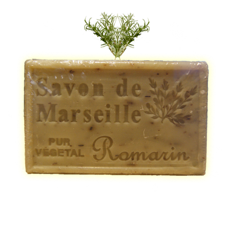 ✭ Savon de Marseille romarin 125g - Exfoliant doux gommage de la peau ✭