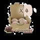 ✭ Bombe de bain muffin chocolat - Boîte X 4 ✭