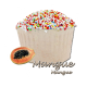 ✭ Bombe de bain muffin mangue - 190gr d''effervescence pour 2 bains ✭