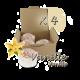 ✭ Bombe de bain muffin vanille - Boîte X 4 ✭