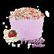 ✭ Bombe de bain muffin fraise - 190gr d''effervescence pour 2 bains ✭