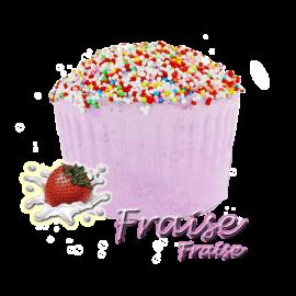Bombe de bain muffin fraise