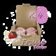✭ Bombe de bain muffin fraise - Boîte X 4 ✭