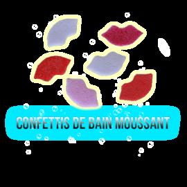 Confettis de bain moussant bouche