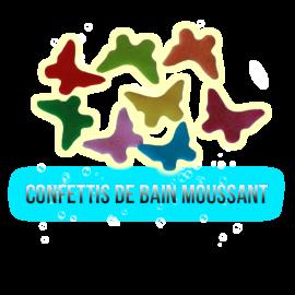 Confettis de bain moussant papillon